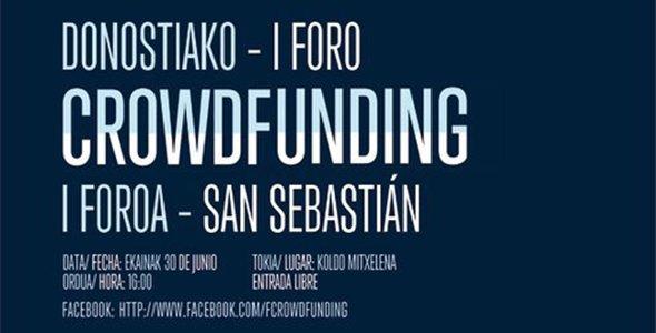 I Foro Crowdfunding Donostia-San Sebastián